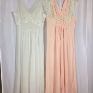 Vintage 40s 50s lacy nightgowns lot - flawed 38